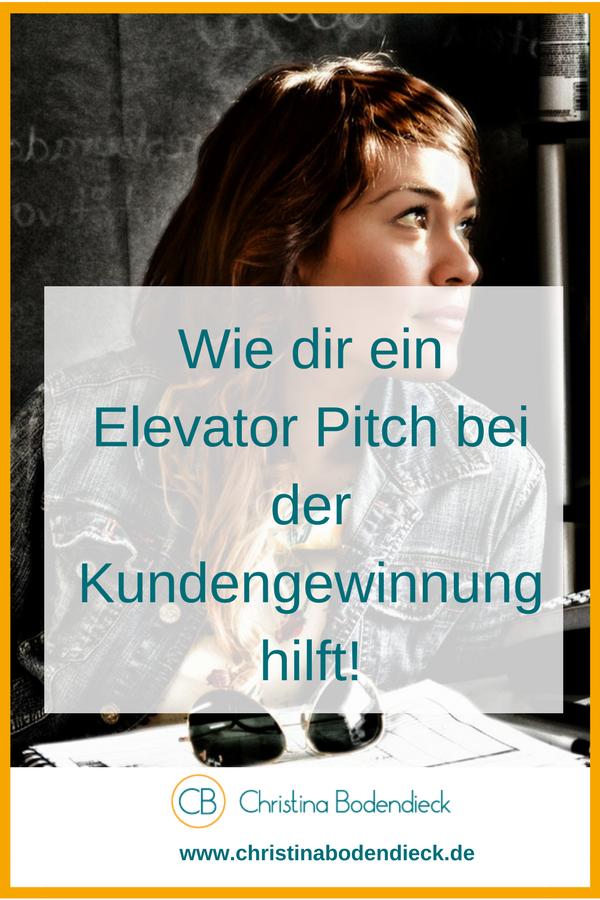 Wie dir ein Elevator Pich bei der Kundengewinnung hilft