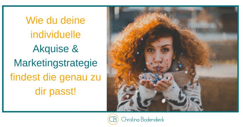 Akquise und Marketingstrategie