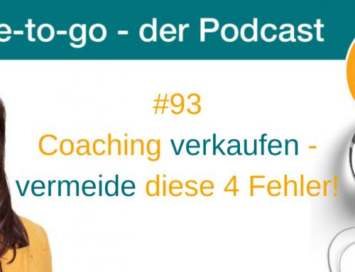 Coaching verkaufen – vermeide diese 4 Fehler